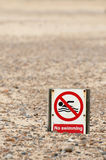 No swimming Stock Images