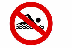 NO Swimming Royalty Free Stock Photo
