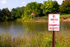 No Swimming Allowed Stock Image