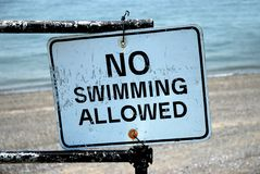 No Swimming Allowed. Sign Royalty Free Stock Images