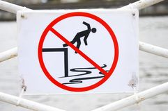 No swimming allowed sign Royalty Free Stock Photos