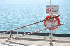 No swimming allowed sign. Toronto no swimming allowed sign along the lake Stock Photography
