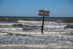 No swimming Royalty Free Stock Photography