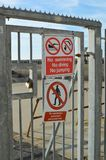 No swimming diving or jumping sign. Stock Photo