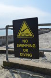 No swimming or diving sign. Stock Image