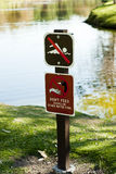 No Swimming Don't Feed Ducks Royalty Free Stock Photo
