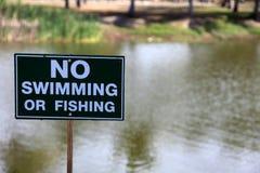 No swimming or fishing Stock Photo