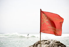 No Swimming flag Royalty Free Stock Images
