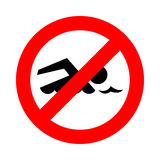 No swimming great for any use. Vector EPS10. Royalty Free Stock Photo