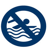 No Swimming Icon royalty free stock photography
