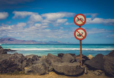 No swimming, no fishing Royalty Free Stock Images