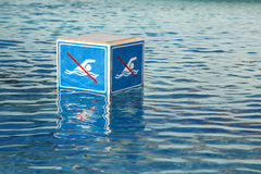 NO Swimming  prohibition sign Stock Images