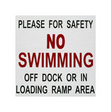 No swimming safety sign Stock Images