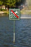 No swimming sign Stock Photo