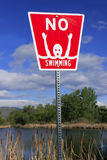 No swimming sign Stock Images
