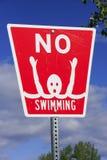 No swimming sign Royalty Free Stock Photo