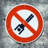 No swimming sign Royalty Free Stock Photography