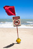No swimming sign -  stingers Royalty Free Stock Photo