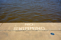 No Swimming Royalty Free Stock Photos