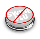 No Swine Flu - Button Stock Photography