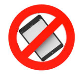 No Tablet PC sign Stock Image