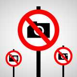 No take a photo icon great for any use. Vector EPS10. Stock Images