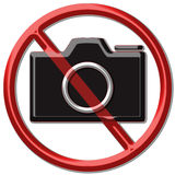 No taking photo. Sign of no taking photo area Royalty Free Stock Photos