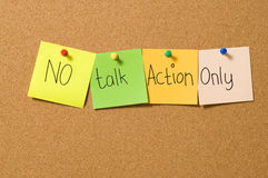 No Talk Action Only Royalty Free Stock Image