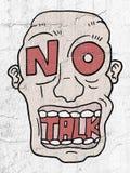 No talk advise. Creative design of no talk advise royalty free illustration