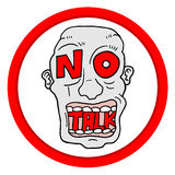 No talk sign Royalty Free Stock Images