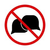 No talking icon, speaking sign. Vector royalty free illustration
