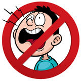 No talking sign Stock Photography