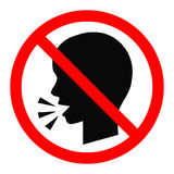 No talking sign. Royalty Free Stock Images