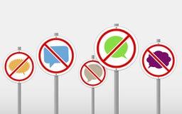 No talking signs Stock Photo