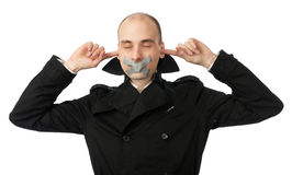 No talking speaking hearing Royalty Free Stock Images