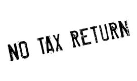 No Tax Return rubber stamp Stock Photo