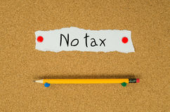No tax Royalty Free Stock Images