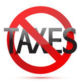 No taxes illustration design. Over white background Royalty Free Stock Photo