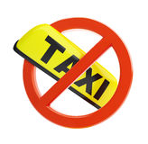 No taxi sign Royalty Free Stock Photos