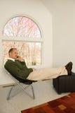 No telefone em casa Foto de Stock Royalty Free