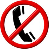 No telephone Stock Photography