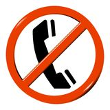 No telephone Stock Images