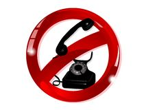 No telephone sign Stock Images