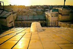 No telhado Fotos de Stock