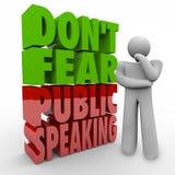 No tema la etapa superada pensador Frigh de las palabras 3d del discurso público libre illustration