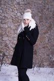 No tenga miedo de un poco frío Fotos de archivo
