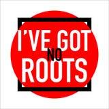 No tengo ningún extracto de la bandera del logotipo de las raíces libre illustration
