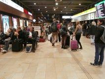 No terminal de ônibus de Praga Fotografia de Stock Royalty Free