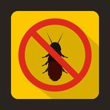 No termite sign icon, flat style Royalty Free Stock Photography