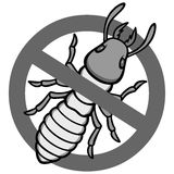 No Termite Sign. A vector illustration of a Termite sign Stock Photography